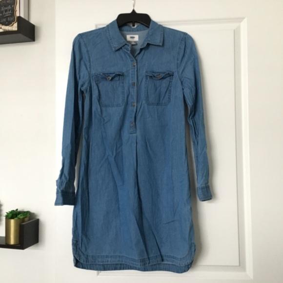 9c9572304ad Old Navy chambray Shirt Dress
